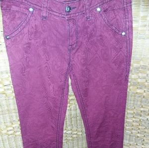 Rock Revival cotton brocade skinny jeans size 31
